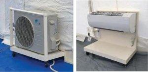 感染症対策医療用陰圧エアテント(冷暖房装置)