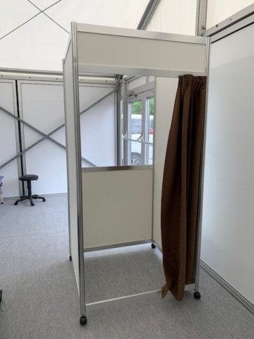 新型コロナ対策・検体採取用ボックス(自立式)